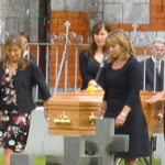 Fr Jimmy's nieces as pallbearers at his funeral