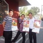 Filipino seminarians selling SMA calendars