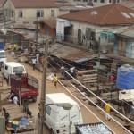Street scene from Ile Lafia building