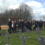 Family and friends follow Fr Jimmy's remains
