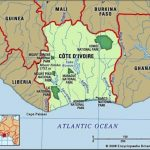 w.Map of Ivory Coast