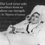 w.St. Therese on sick bed