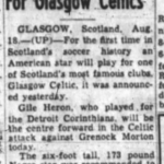 w. news story on Gil Heron to play for Celtic