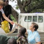 w.Sr. Cassie Hurley (Centre) and Sr. Kate Costigan at the OLA mission base in Tanzania
