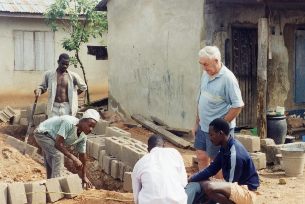 Bro Tom oversees building work in Ondo