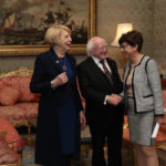 Monique Barbut with President and Mrs Higgins