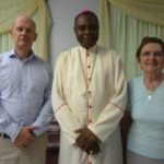 Ambassador Sean Hoy, Catholic Bishop of Idah, Dr Anthony Adaji, and Sr Nora McNamara
