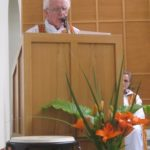 Fr Bernie Cotter SMA proclaims the Word of God at the Opening Mass (1)
