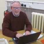 Fr Derek Kearney makes sure it all gets recorded (1)