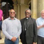 HE Archbishop Jude Okolo, Papal Nuncio, with, from left, Fr Malachy Flanagan, Fr Alphonse Sekongo and Fr Michael McCabe (1)
