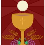 Eucharist Bread with Grapes and Wheat  Royalty-free stock vector ID: 1160116237 Standard License